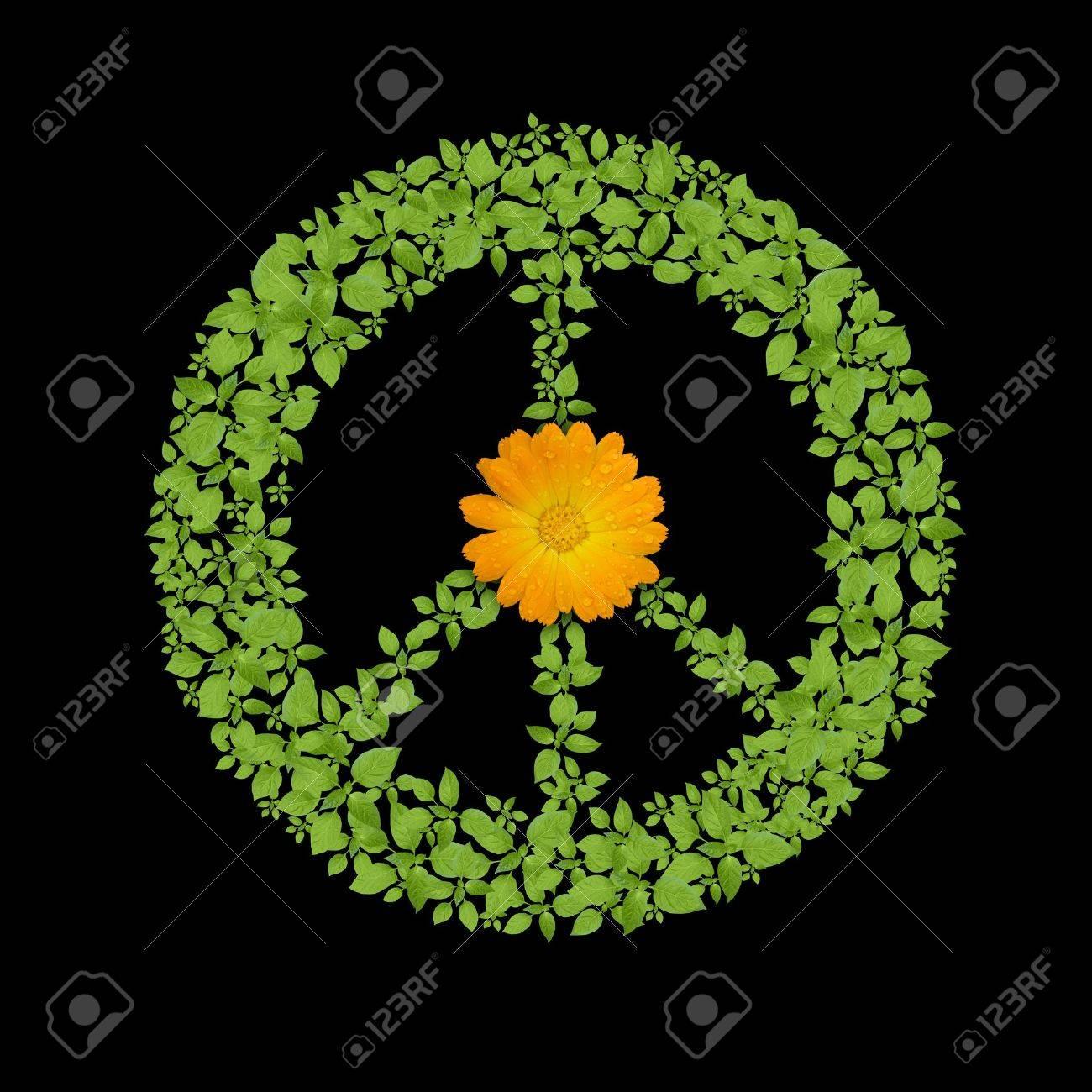 Green plant peace symbol Stock Photo - 10526395