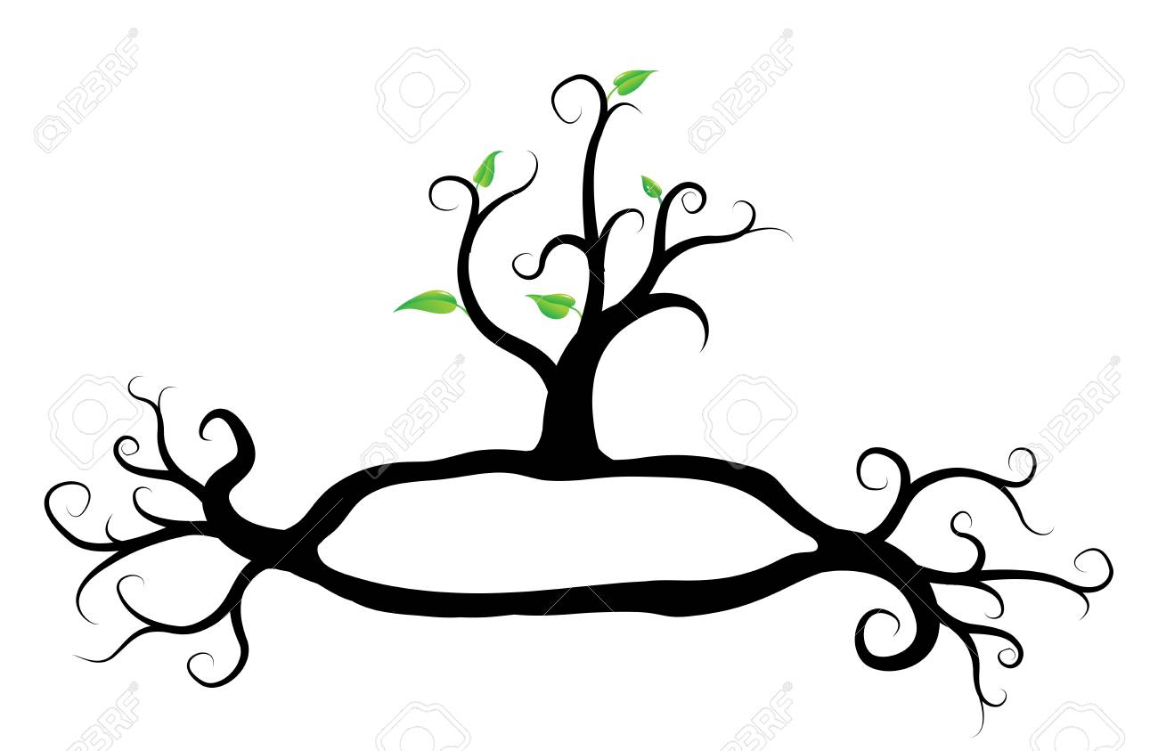 green tree plant, with frame for text, vector Stock Vector - 13307107
