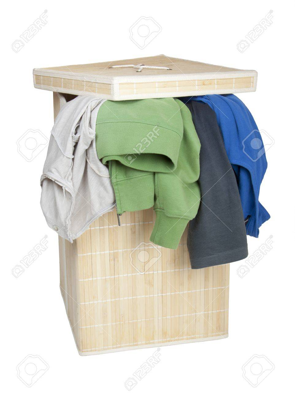 Box with Dirty Laundry Stock Photo - 14030308
