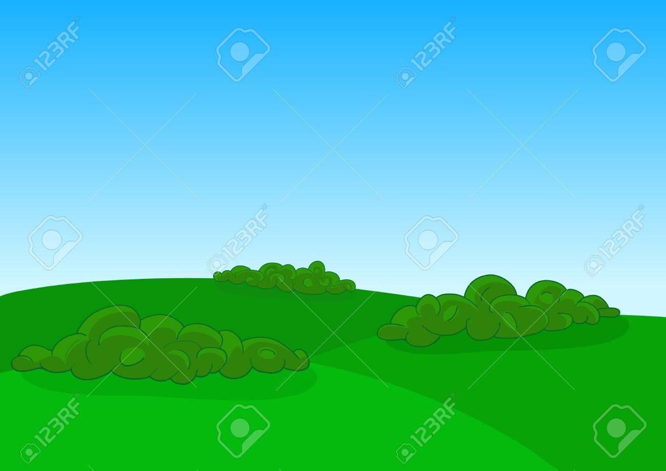 Green field landscape Stock Vector - 15754282