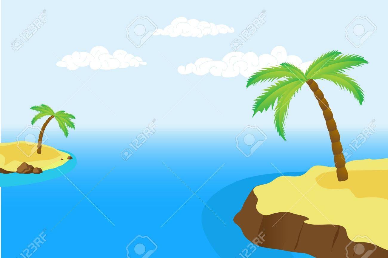 palm island Stock Vector - 16209309