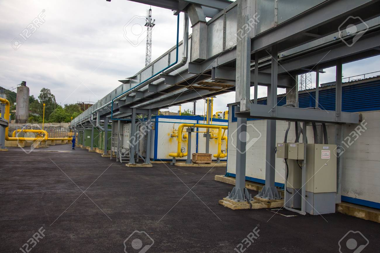 electric power station, outside Stock Photo - 26145697