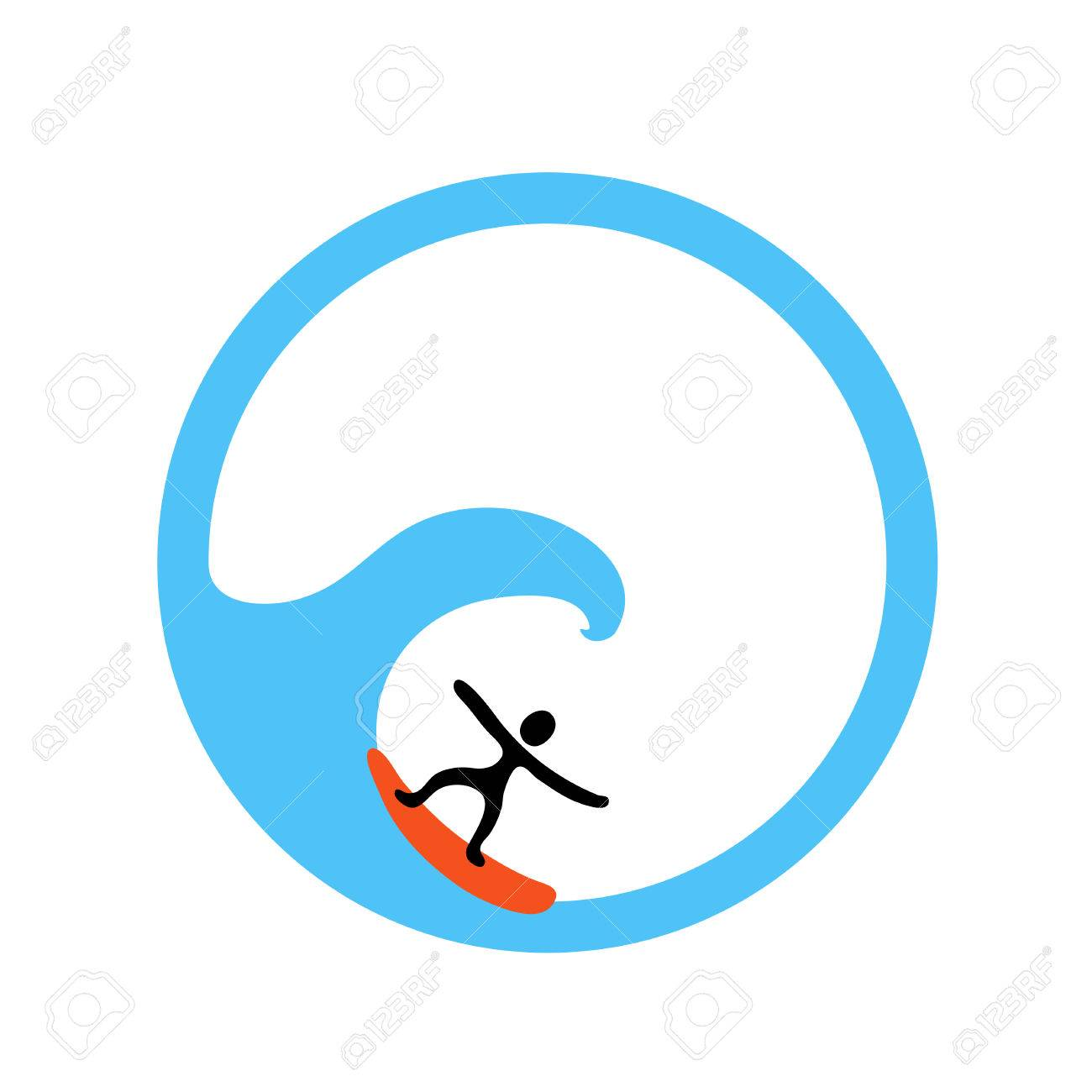 surfer and the wave vector icon illustration royalty free cliparts rh 123rf com wavevector spectrum wave vector art