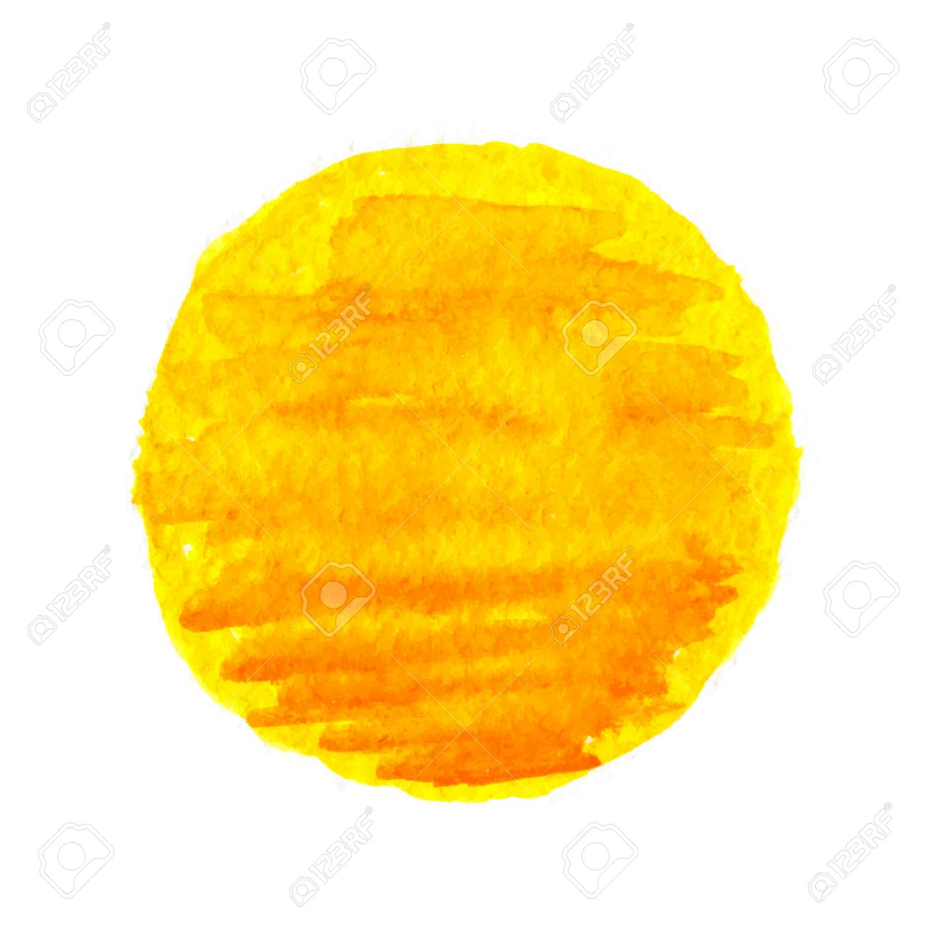 watercolor sun, vector illustration, isolated on white background - 39280403