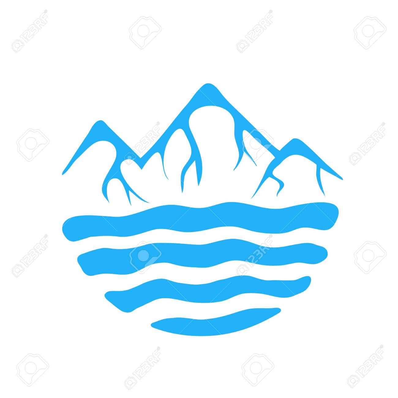 mountain and sea or river vector icon illustration royalty free cliparts vectors and stock illustration image 43133974 mountain and sea or river vector icon illustration