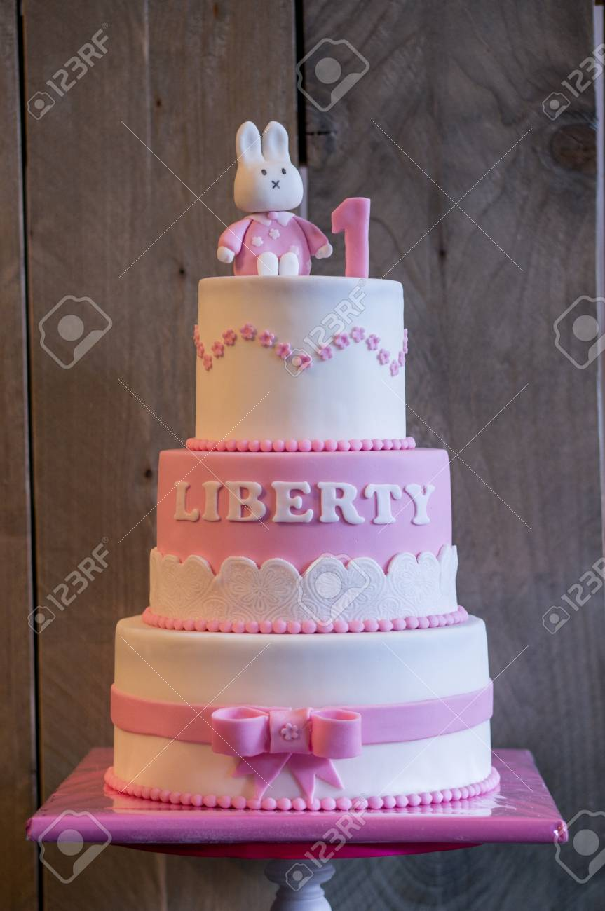 Fine Birthday Cake For An 1 Year Old Child Stock Photo Picture And Funny Birthday Cards Online Barepcheapnameinfo
