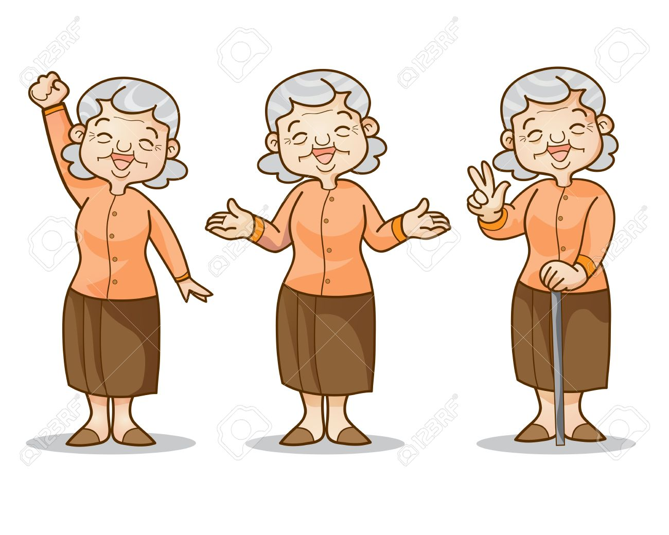 funny illustration of old woman cartoon character set isolated rh 123rf com old lady cartoon character meme old lady cartoon character with tissues