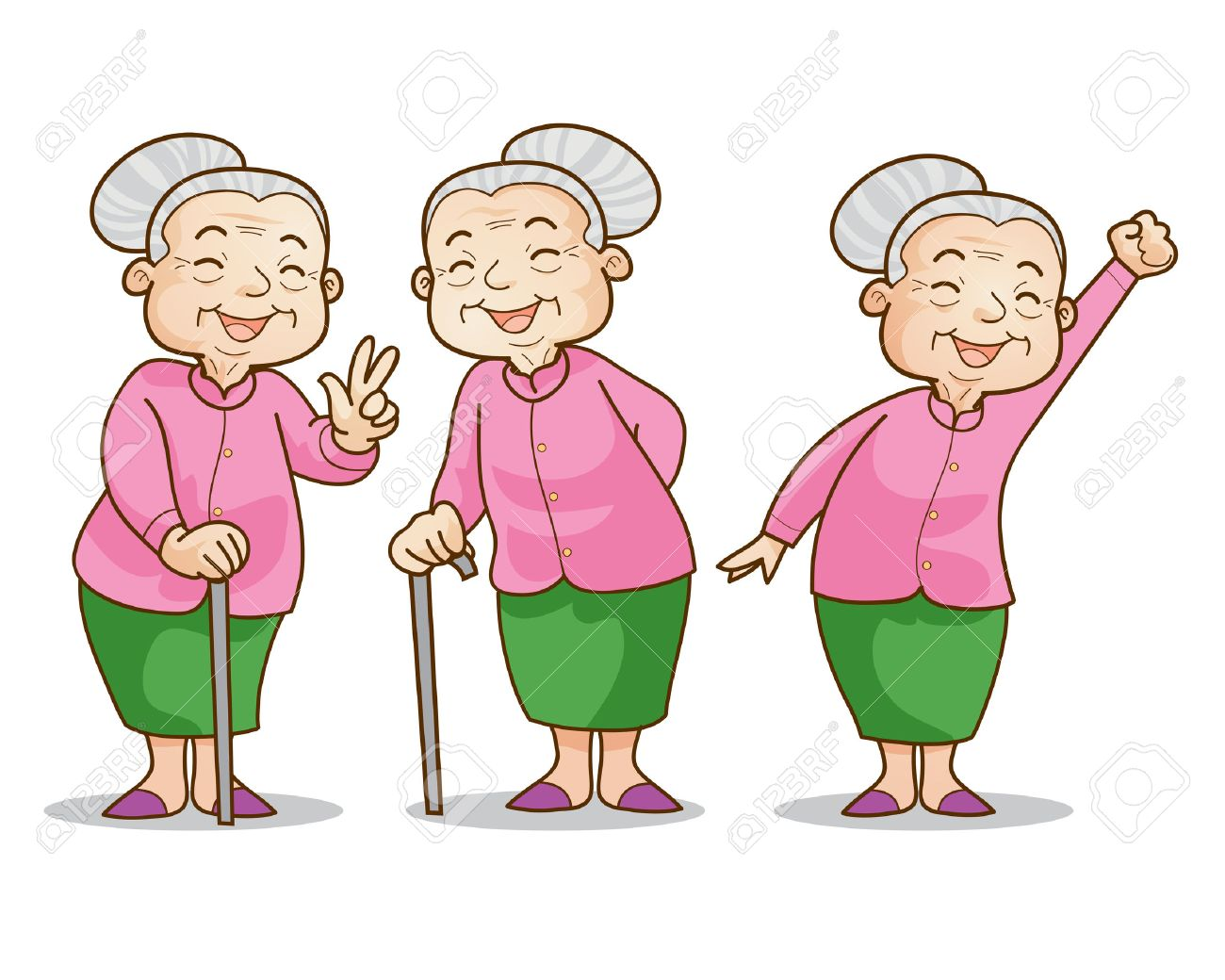 funny illustration of old woman cartoon character set isolated rh 123rf com old lady cartoon character meme old woman cartoon character