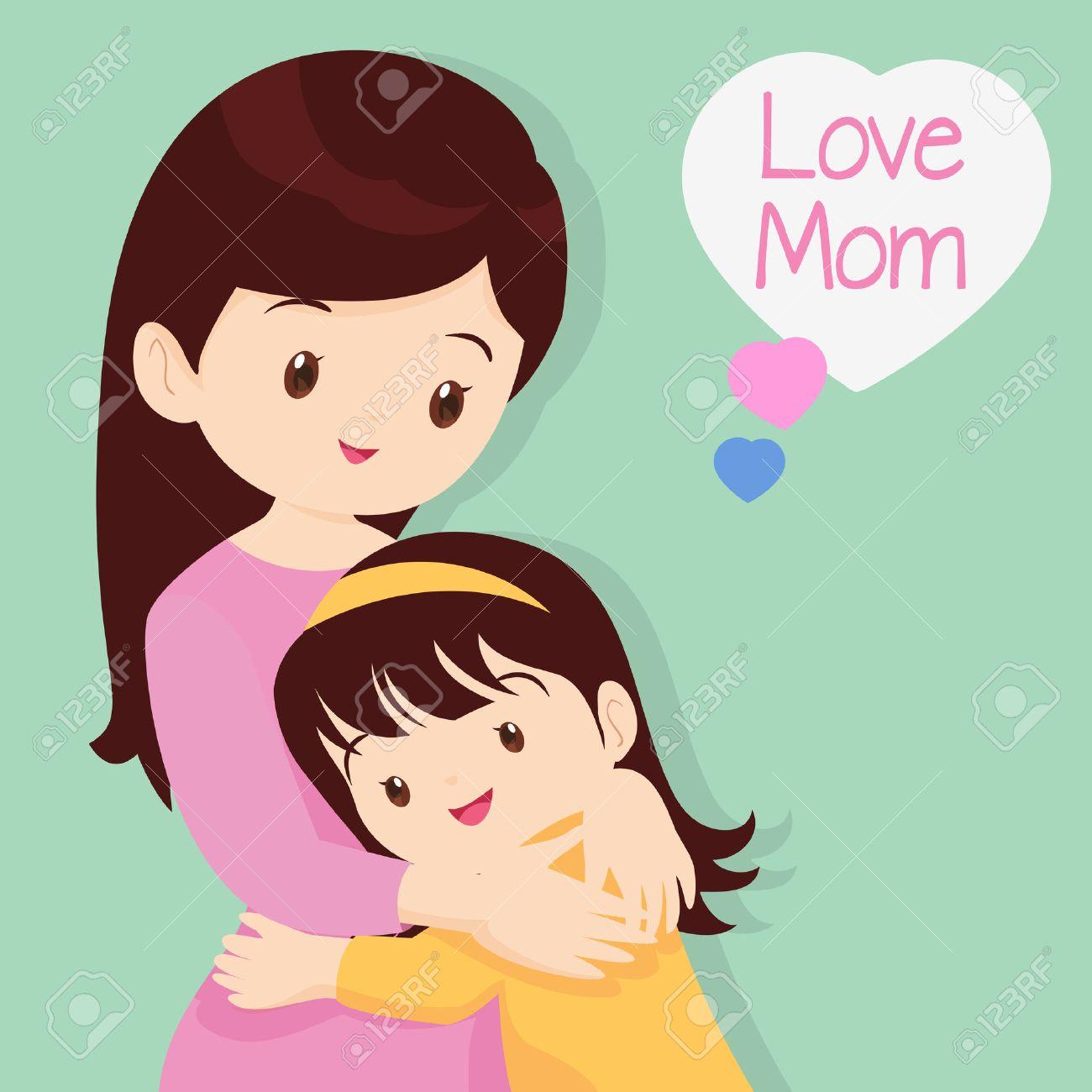 Día De La Madre Abrazar Amor Niños De Amor Hija Abraza A Su
