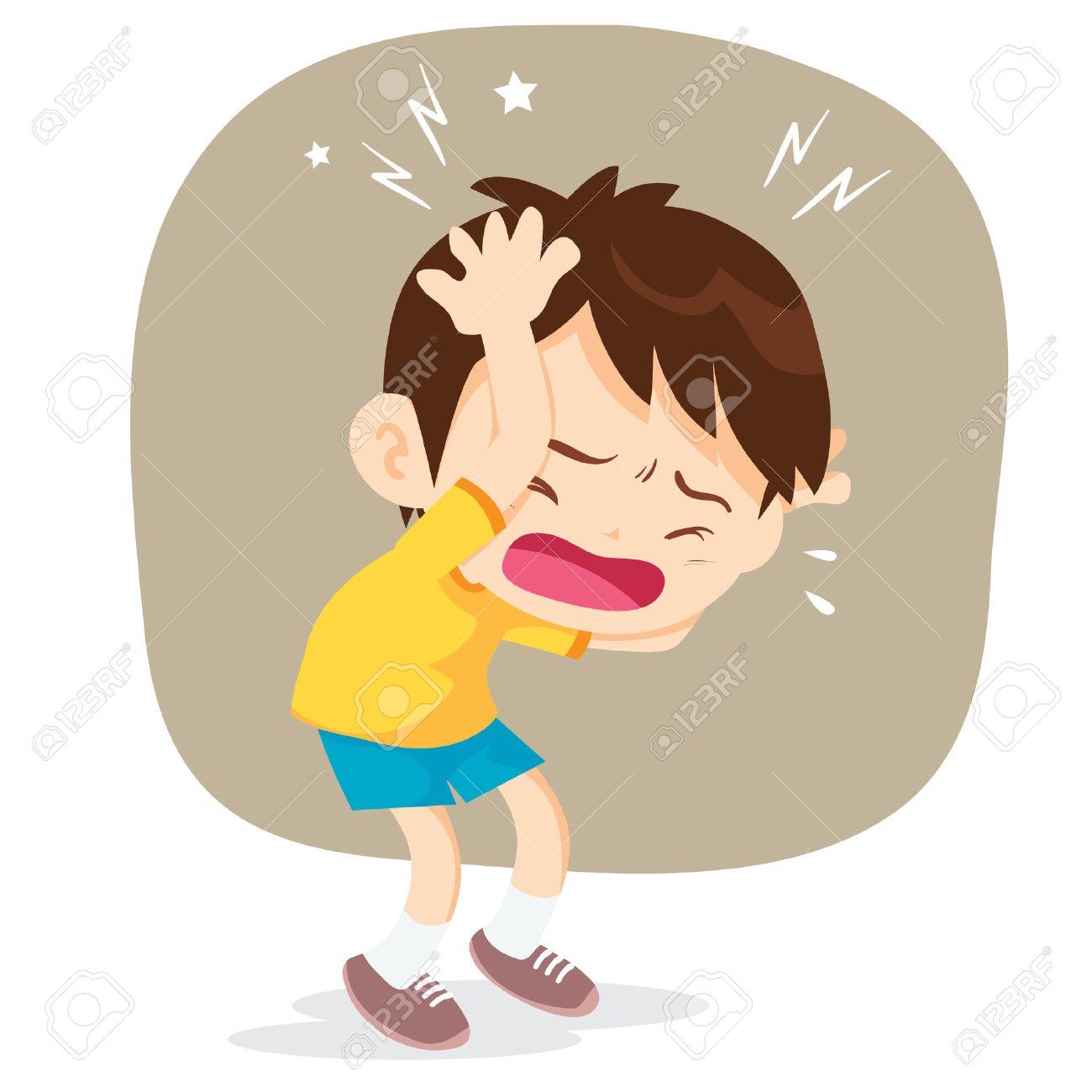 Boy Have Headache Headache Pain Cartoon Vector Illustrator Royalty Free Cliparts Vectors And Stock Illustration Image 66769995