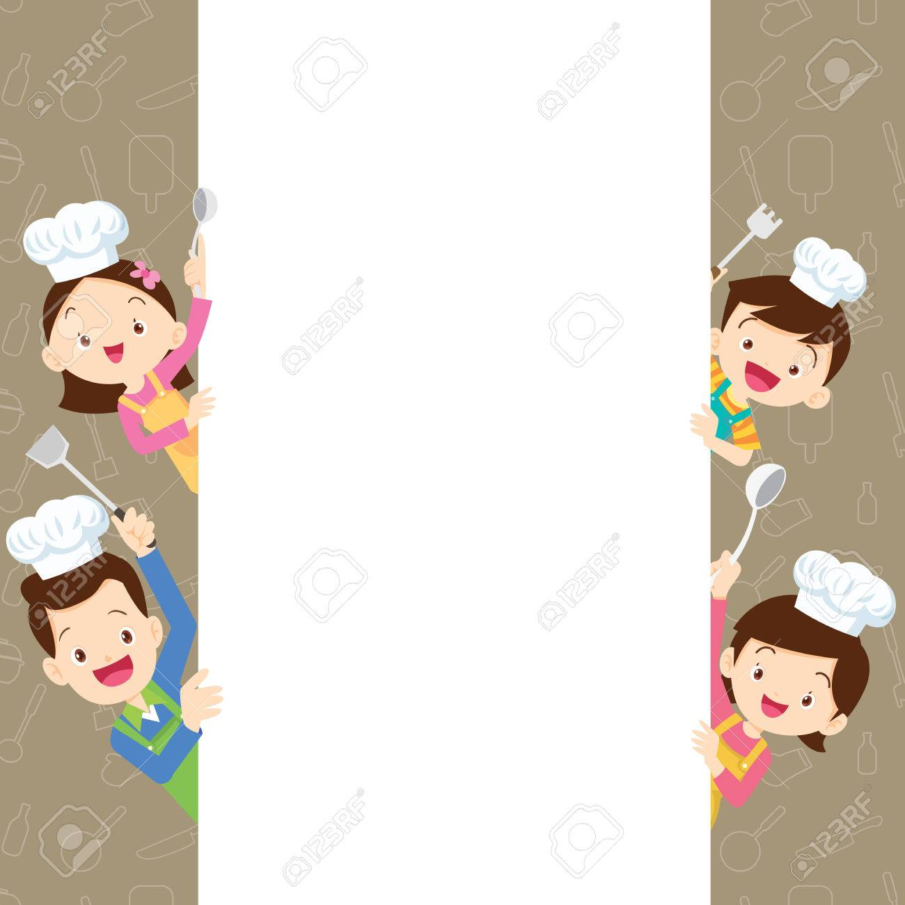 Cute Family Cooking Meal Menu Poster Banner Template Dad Mom Royalty Free Cliparts Vectors And Stock Illustration Image 82020683