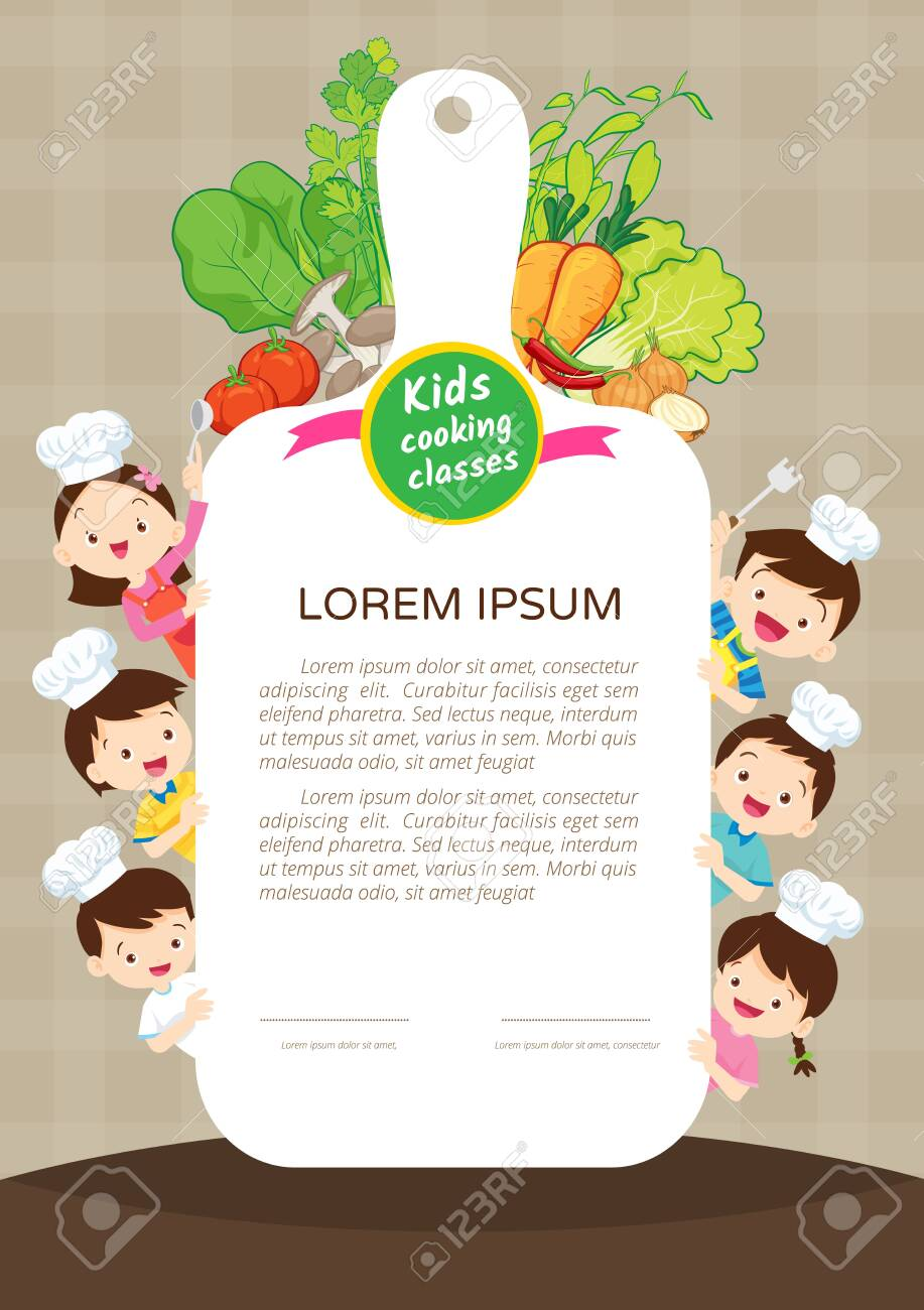 Kids Cooking Class Certificate Design Template Cute Little Chef Royalty Free Cliparts Vectors And Stock Illustration Image 124198496