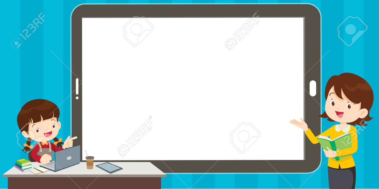 Study at home, online test, distance learning concept. Children working at laptop notebook, smartphone doing school homework, coronavirus quarantine concept. - 169092033