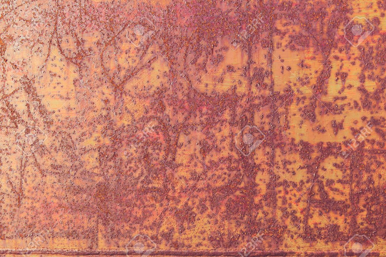Old Metal Rustic Steel Background And Texture Stock Photo