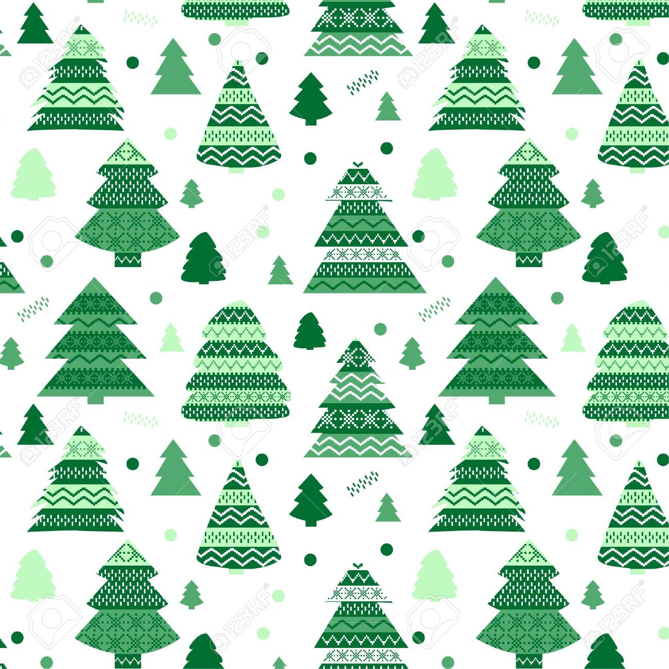 Cute Christmas pattern with Christmas motifs - 132028681