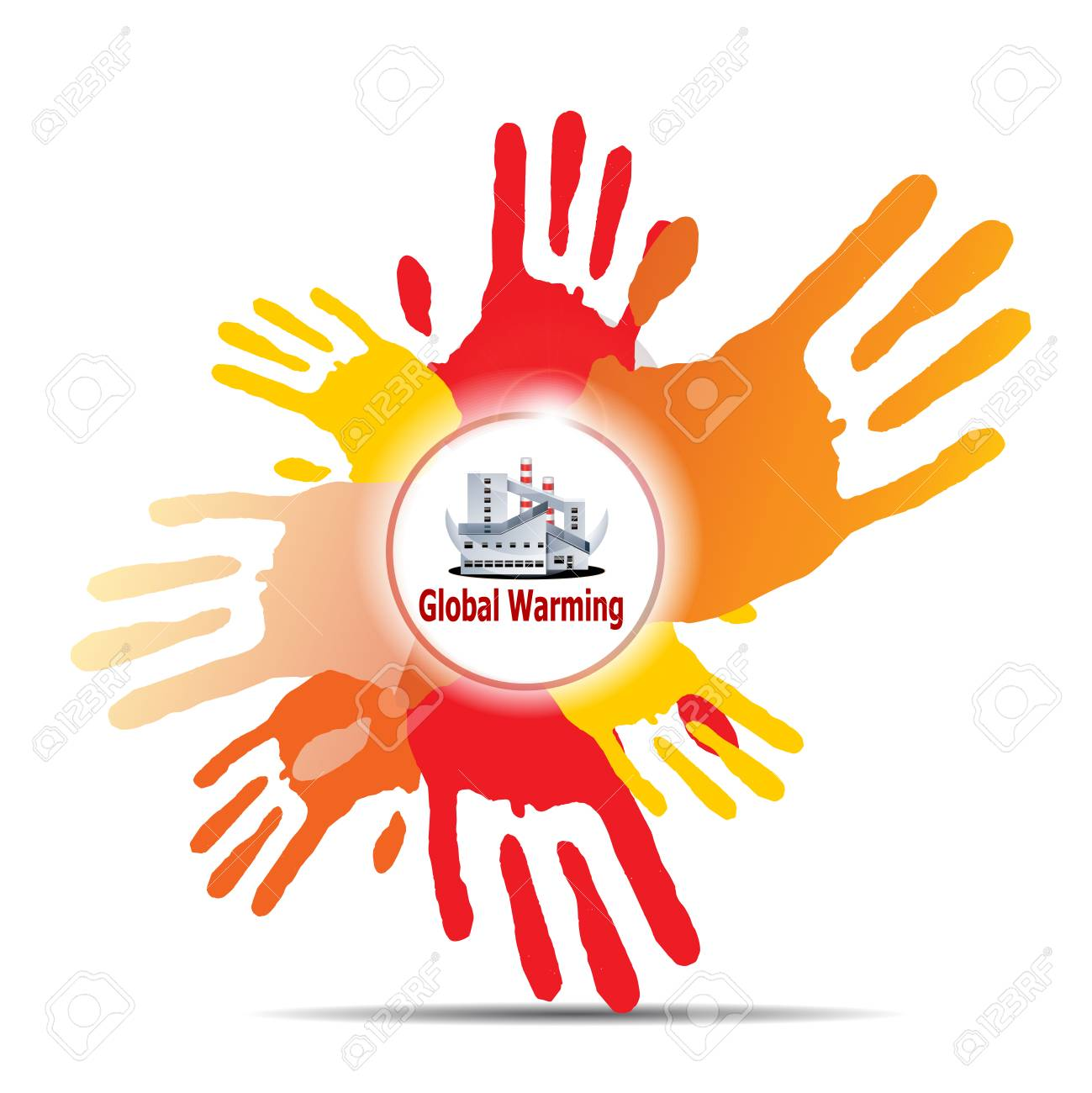 many hands and industry Stock Photo - 24465501