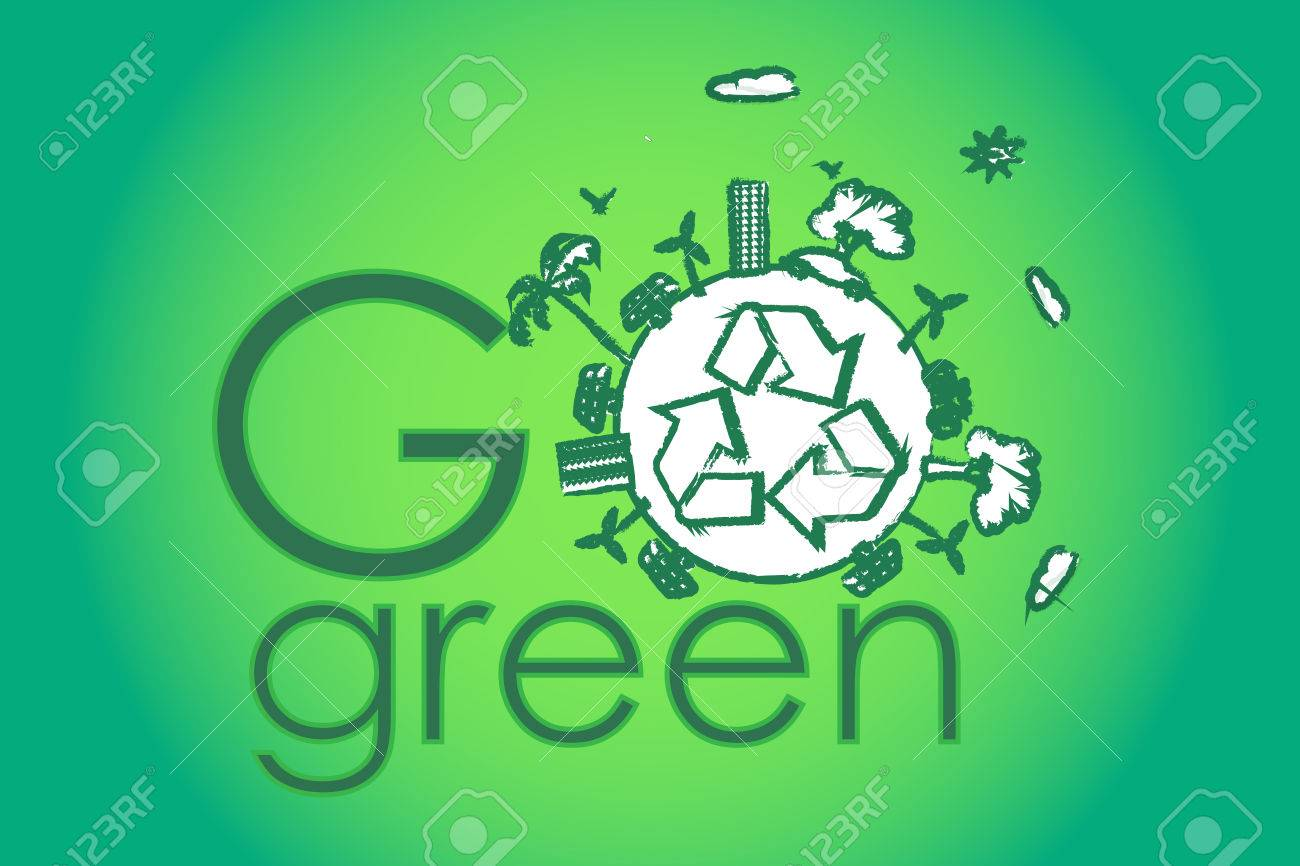 go green with green earth Stock Photo - 24462752