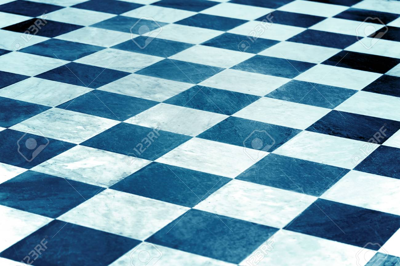 Black And White Checkered Floor Tiles, Marble Background Stock Photo ...