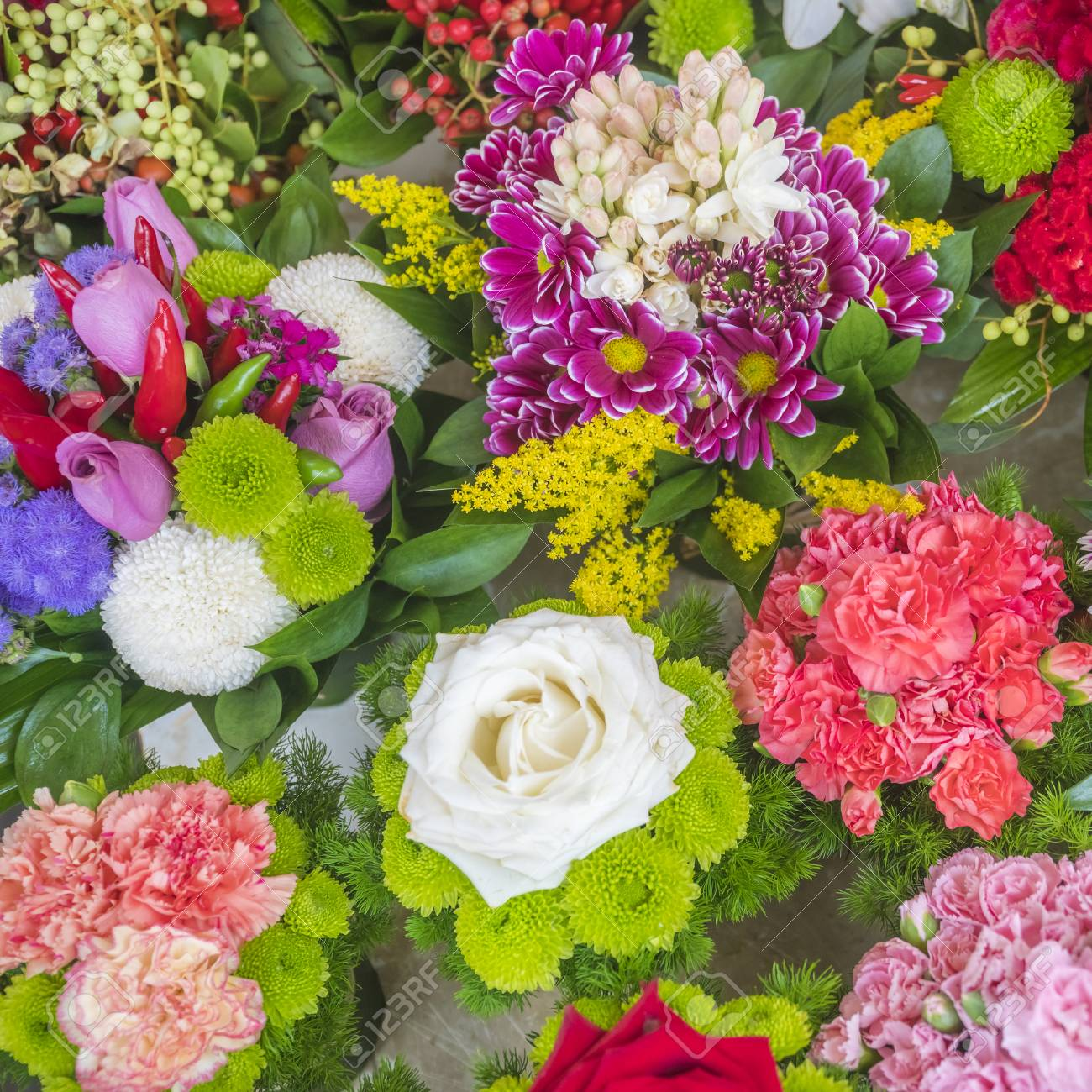 Colorful bouquets of different flowers flower shop stock photo colorful bouquets of different flowers flower shop stock photo 97208583 izmirmasajfo