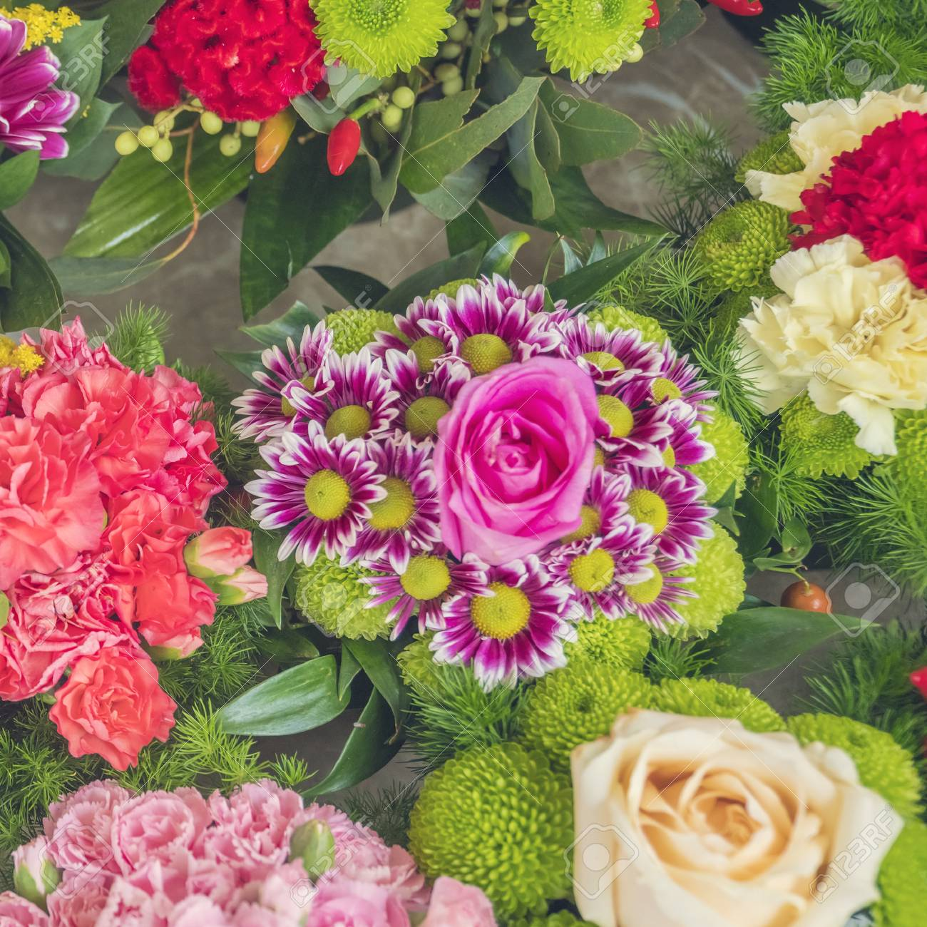 Colorful bouquets of different flowers flower shop stock photo colorful bouquets of different flowers flower shop stock photo 97209135 izmirmasajfo