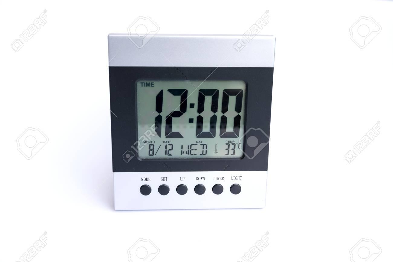 Horloge numérique de bureau et alarme pour le réveil banque d