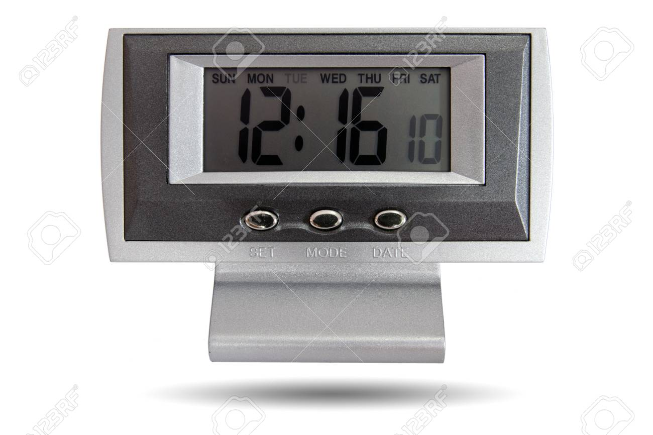Horloge de bureau numérique minuterie et alarme pour se réveiller