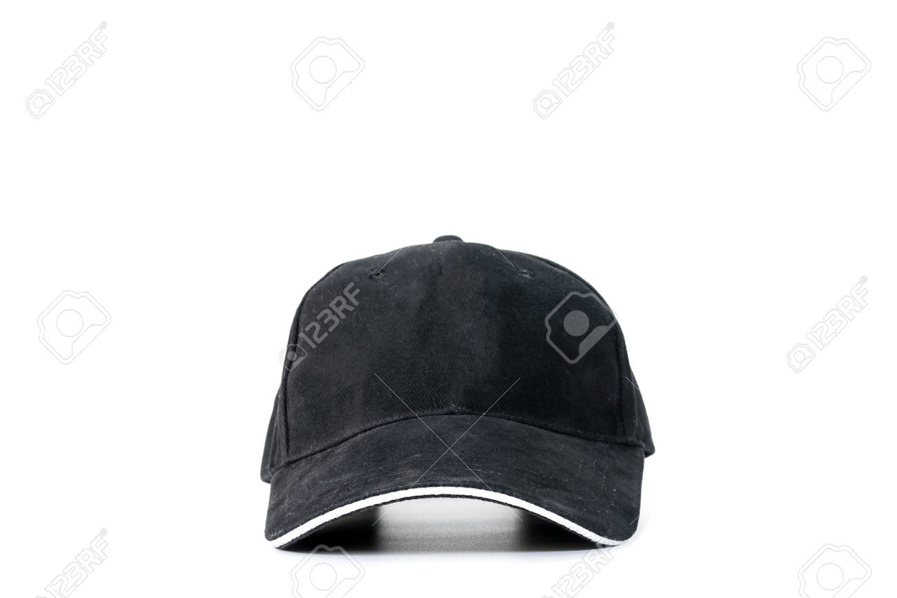 b85fa513 Black baseball cap isolated on white background, concepts of beauty,  fashion and sport object