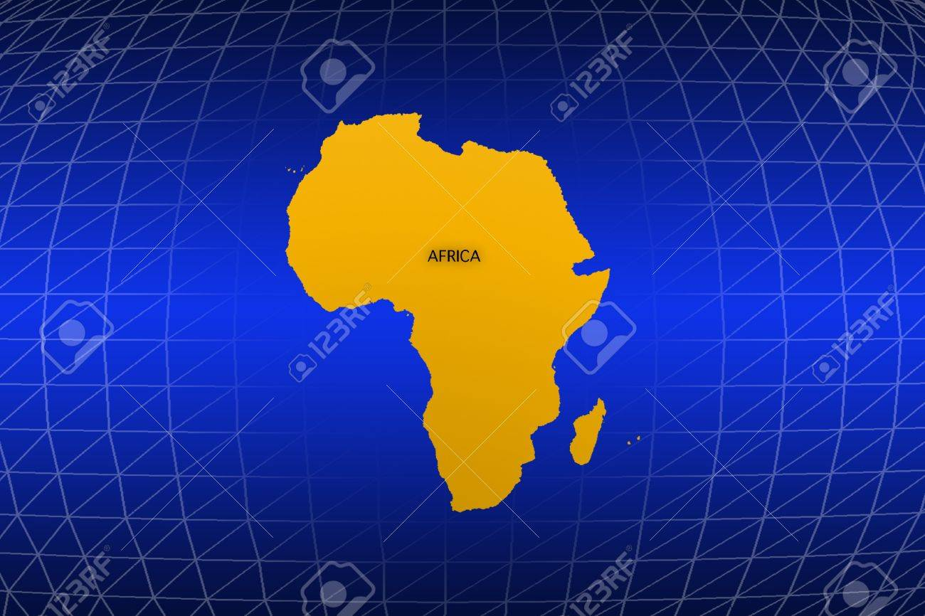 Africa Map Background.Africa Map On The World Map Background Stock Photo Picture And