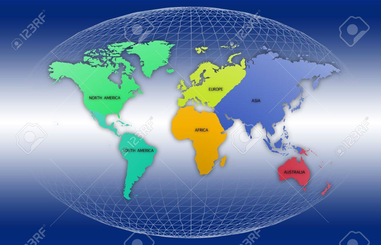 World map with each continent of the world stock photo picture world map with each continent of the world stock photo 15373752 gumiabroncs Gallery