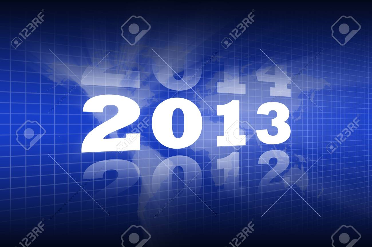 Abstract Background of Lighting New Year 2013 Stock Photo - 16507984