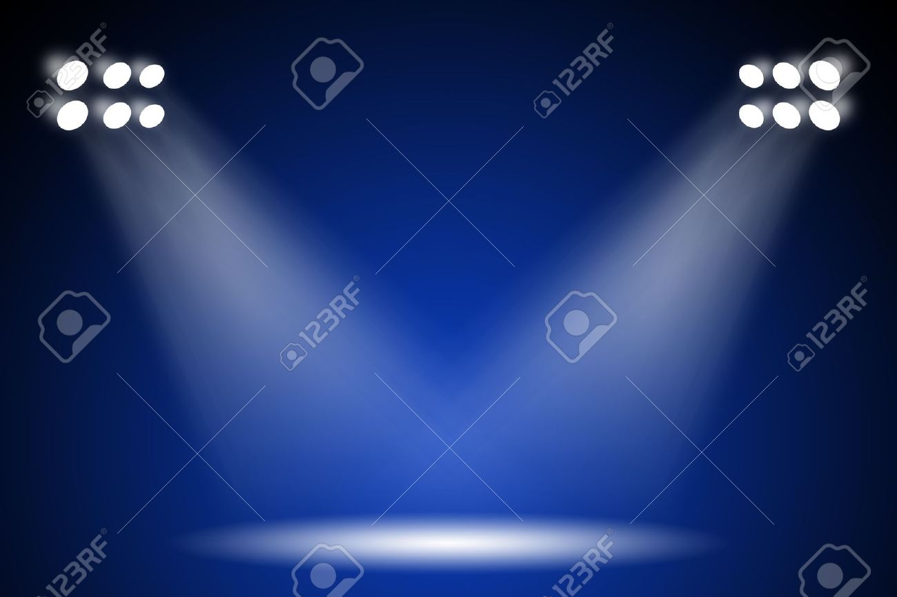 Stage Lights Background Wallpaper Stock Photo