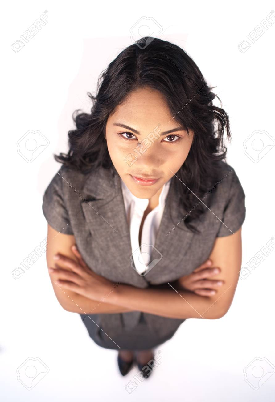 High angle of serious businesswoman Stock Photo - 10072347