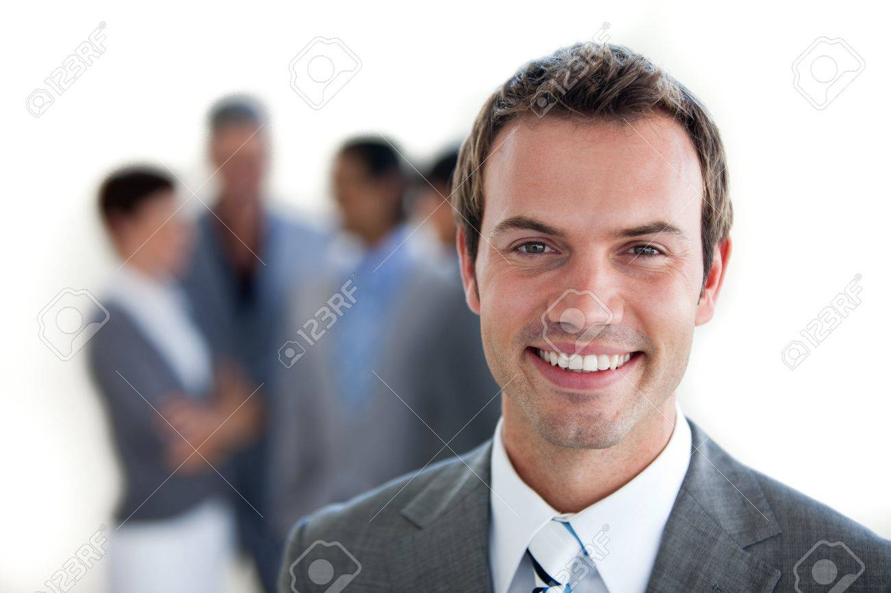 Focus on a young manager Stock Photo - 10093642