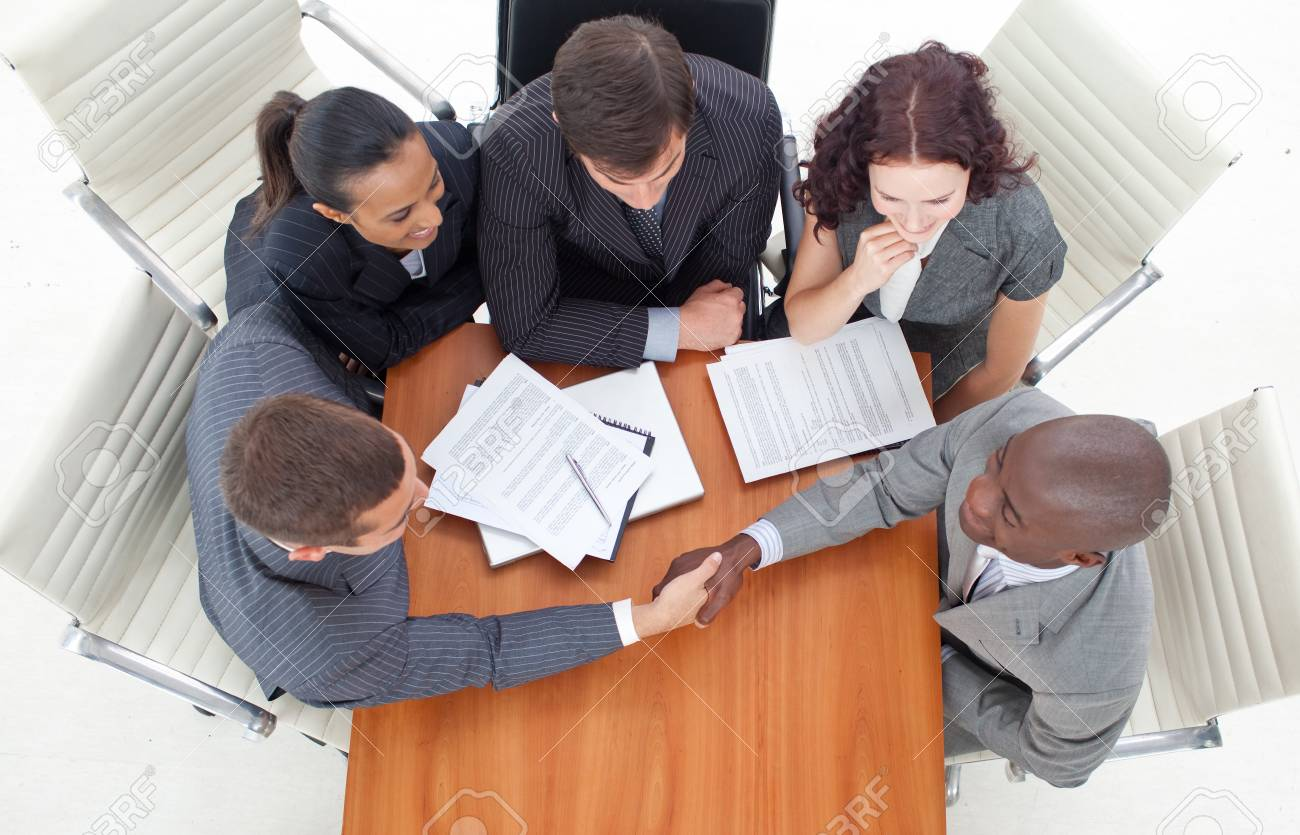 Handshake in a meeting business Stock Photo - 10105862