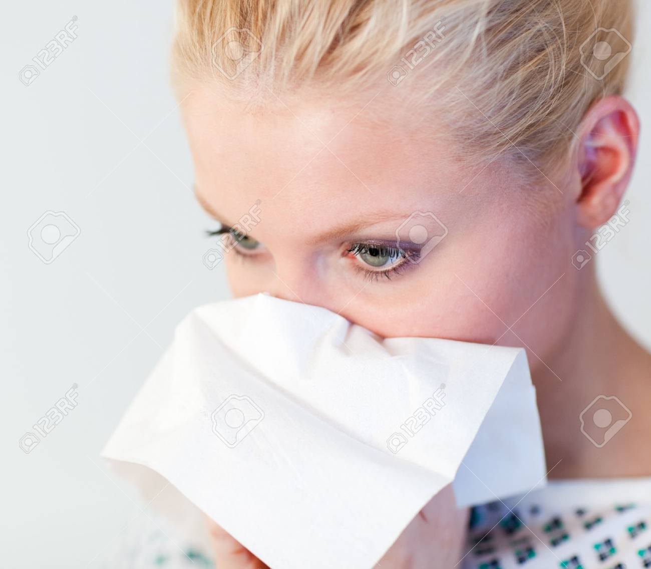 Patient with the flu Stock Photo - 10110457