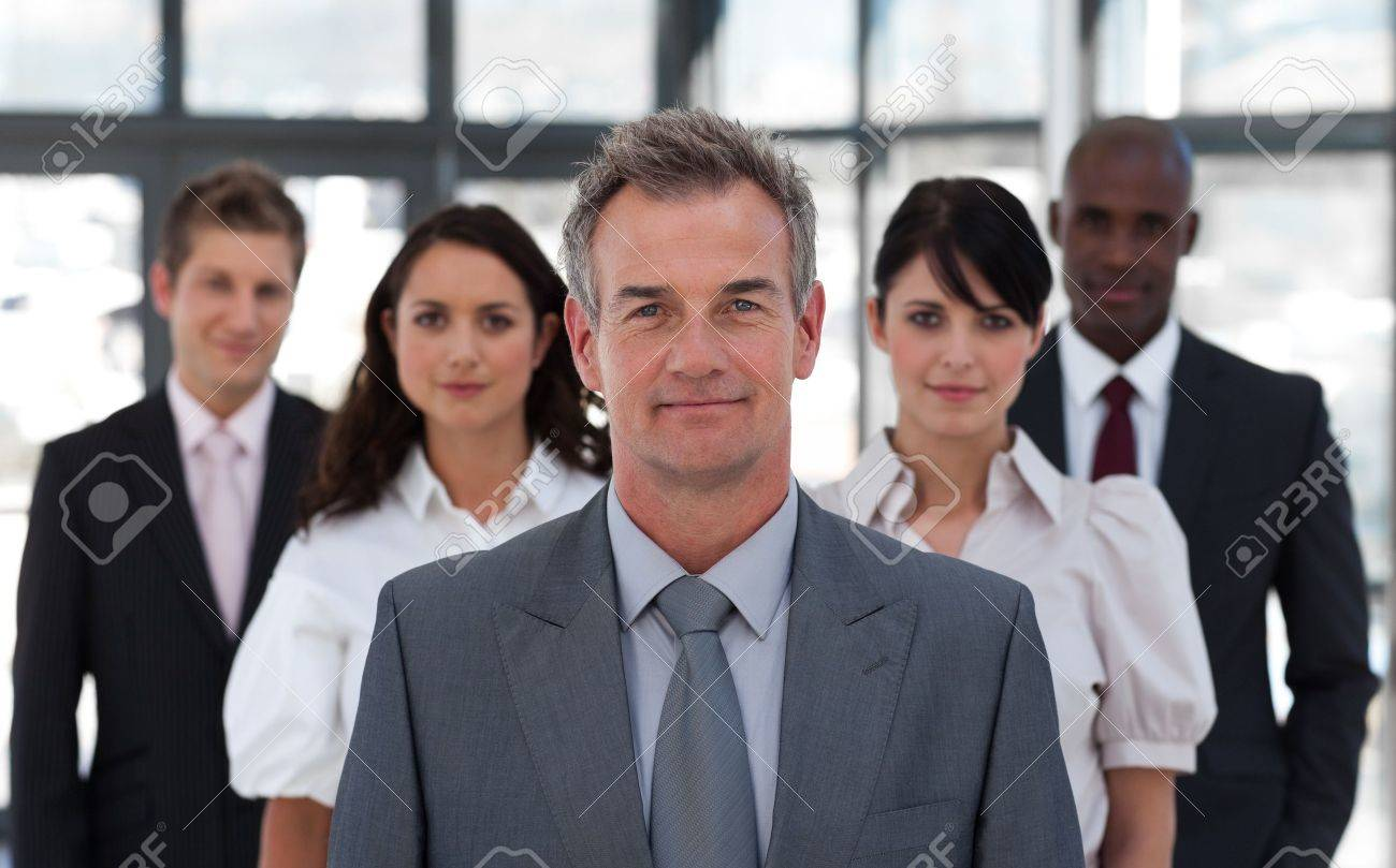 Portrait of a confident business team looking at the camera Stock Photo - 10133622