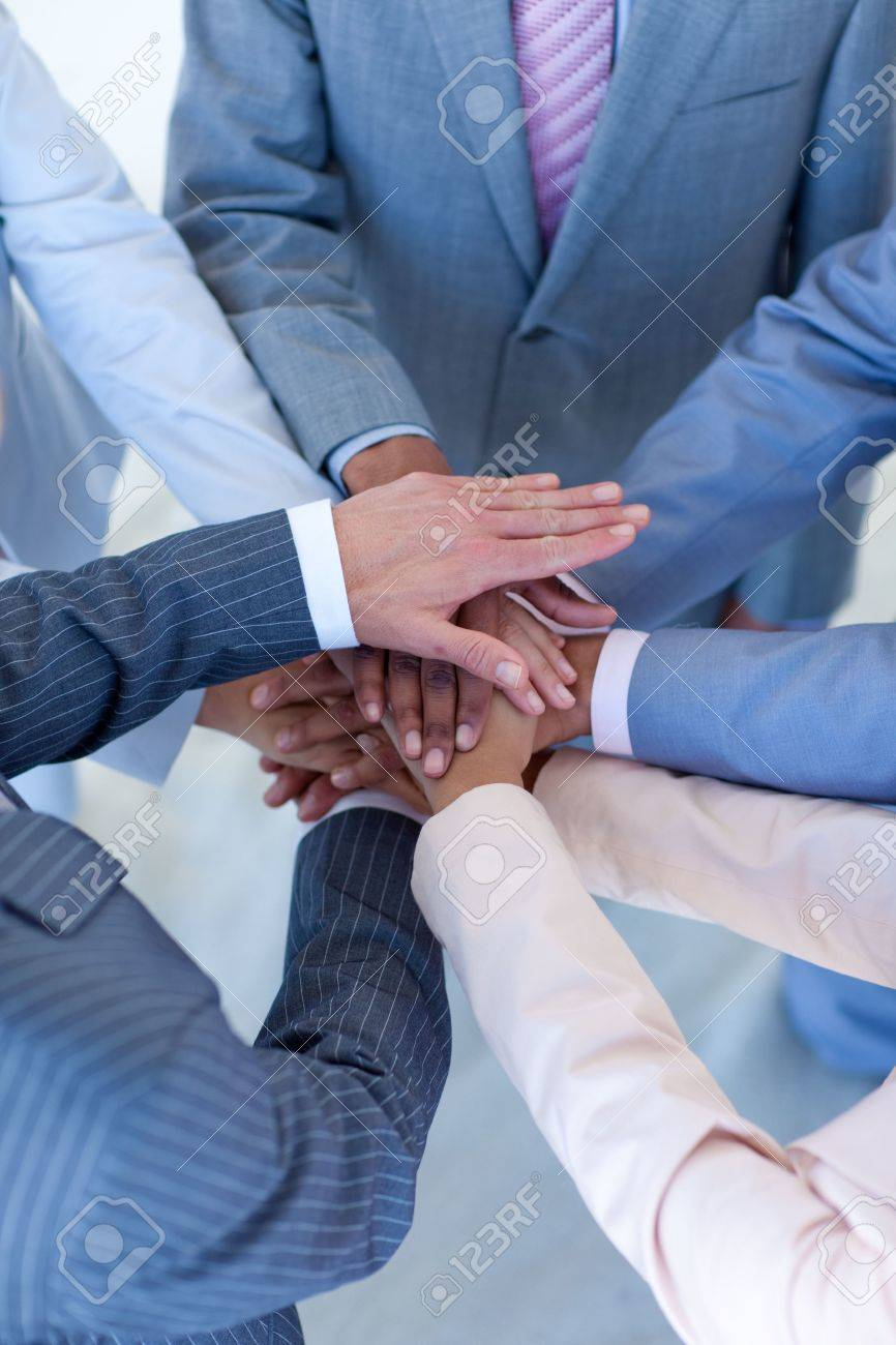 Close-up of internationalpeople with hands together Stock Photo - 10133444