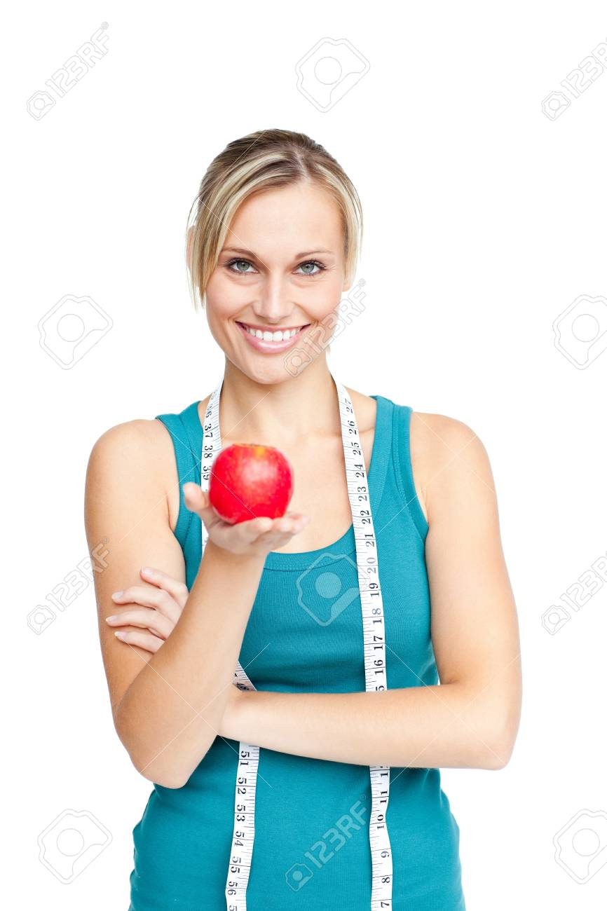 Beautiful woman with an apple Stock Photo - 10133964