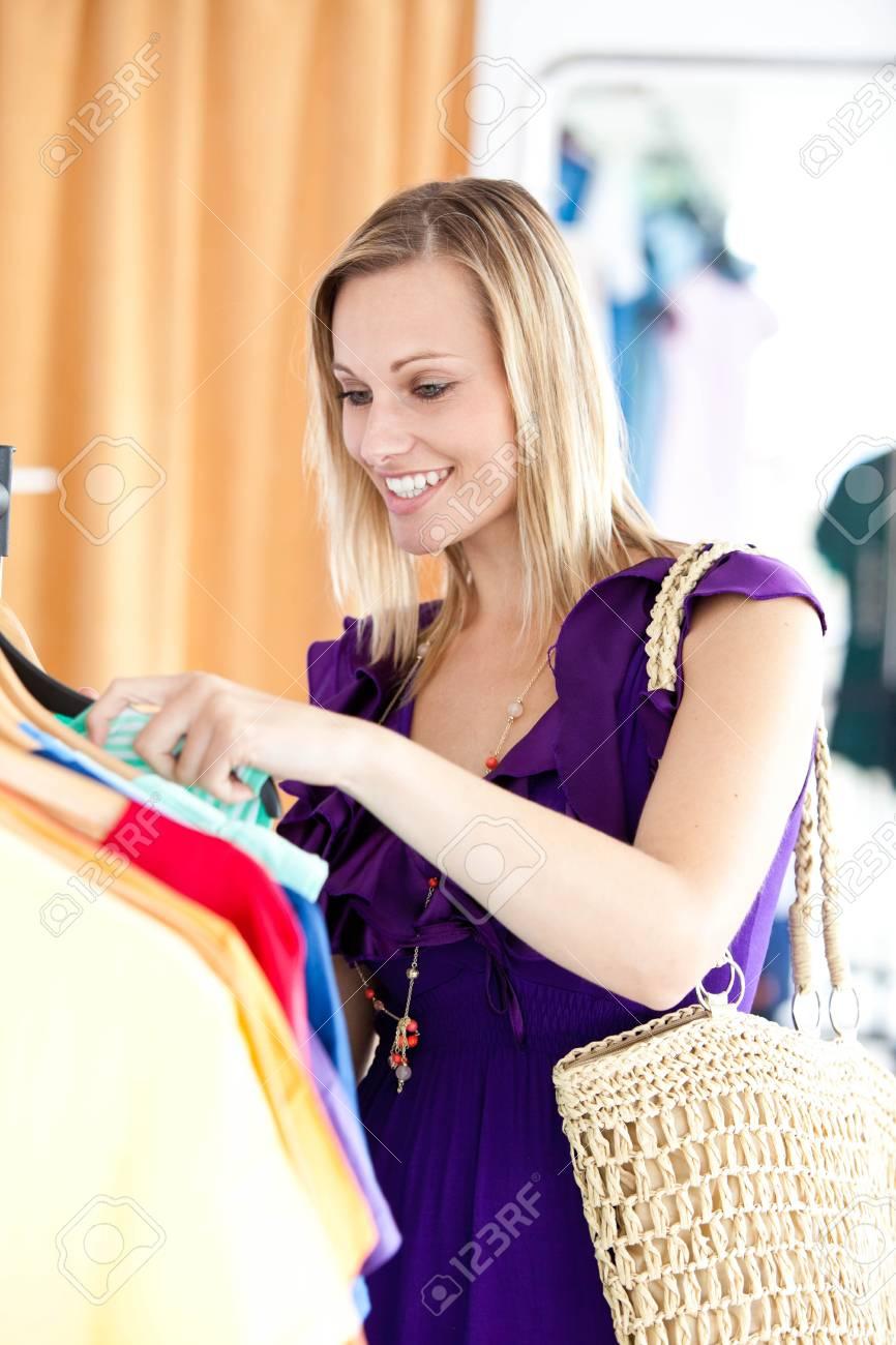 Caucasian woman is doing shopping Stock Photo - 10137197