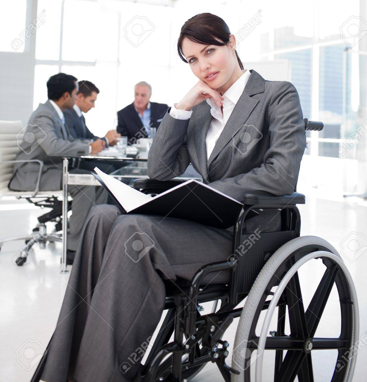 Portrait of a young woman in a wheechair Stock Photo - 10137350