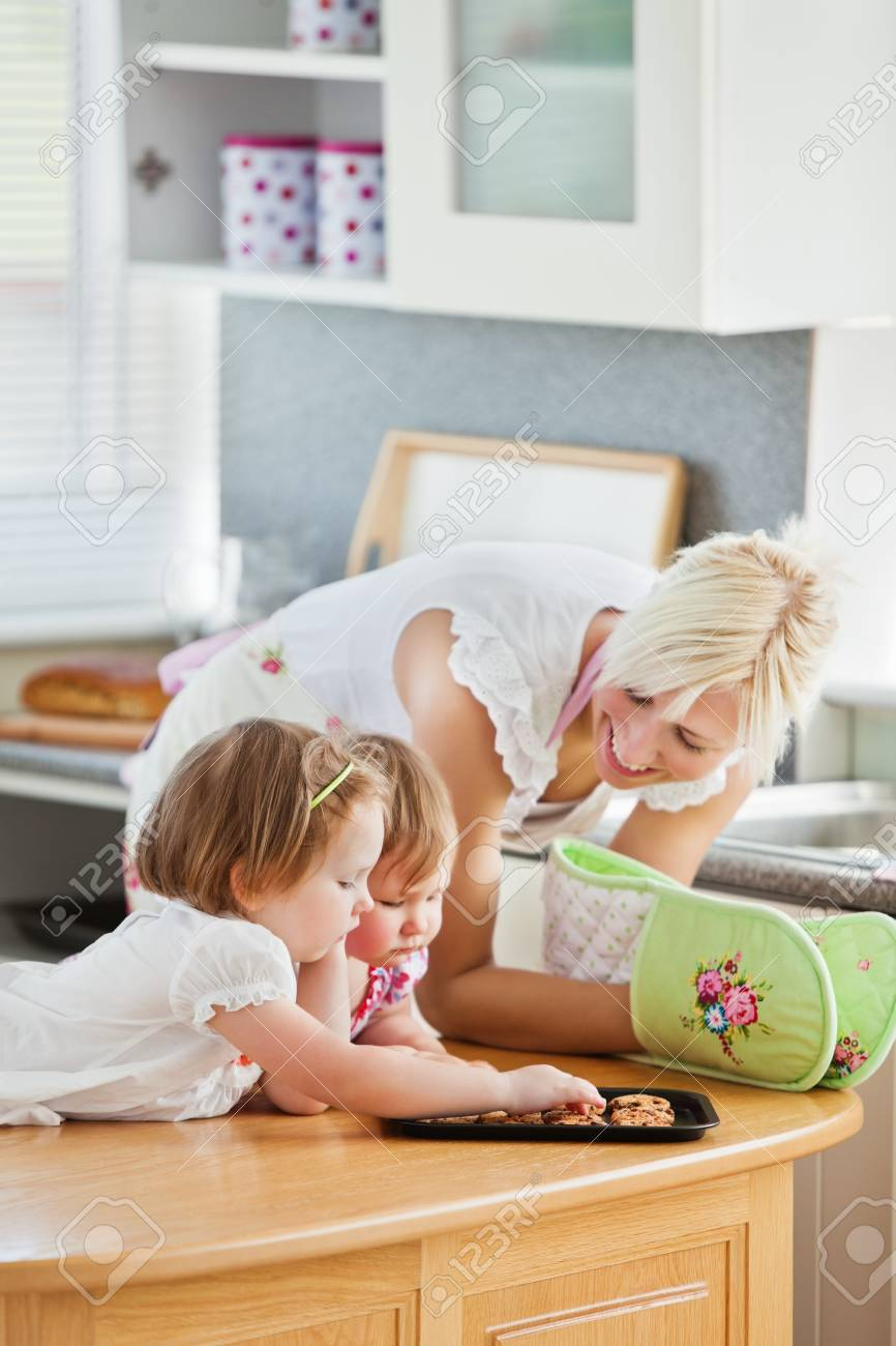 Blond mother having fun with her daughters Stock Photo - 10175726