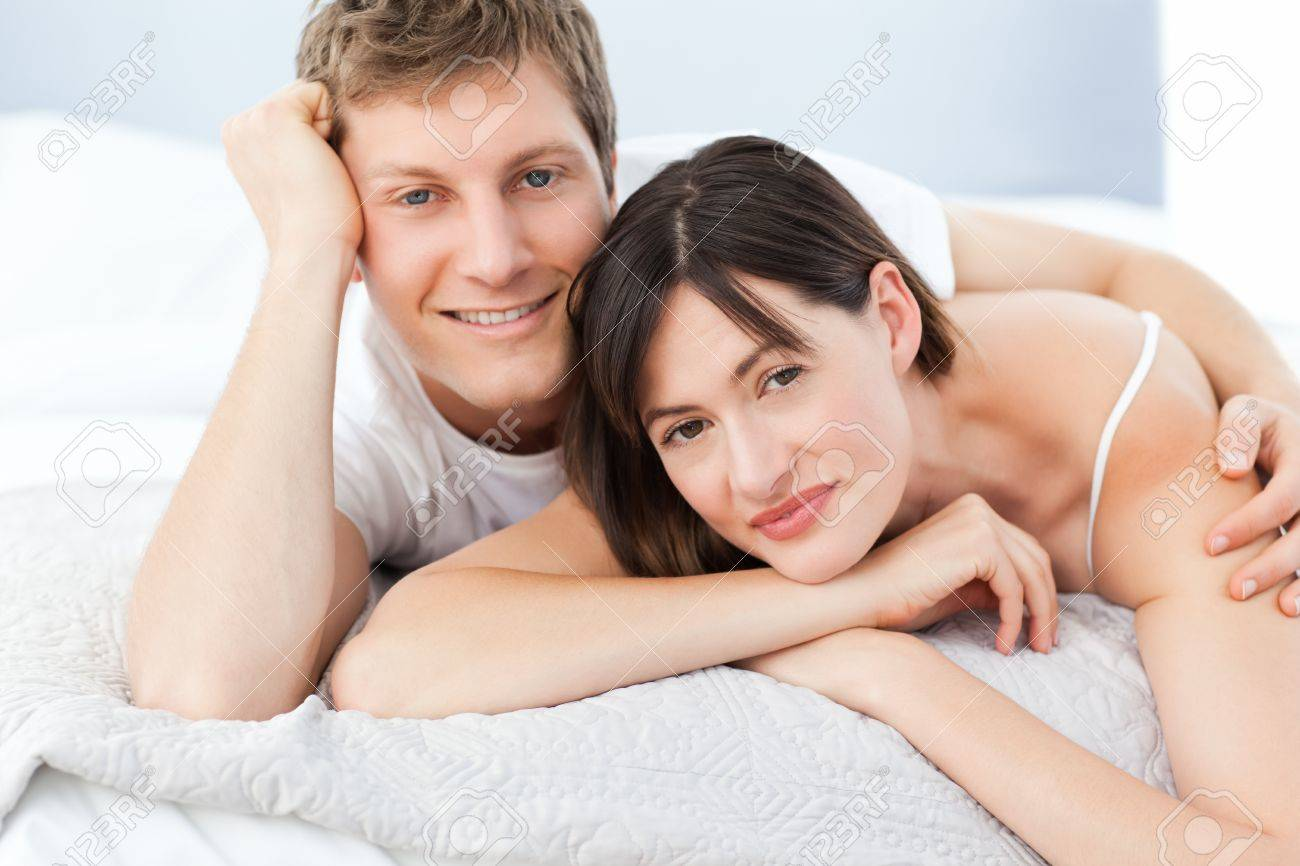 Cute lovers looking at the camera Stock Photo - 10172830