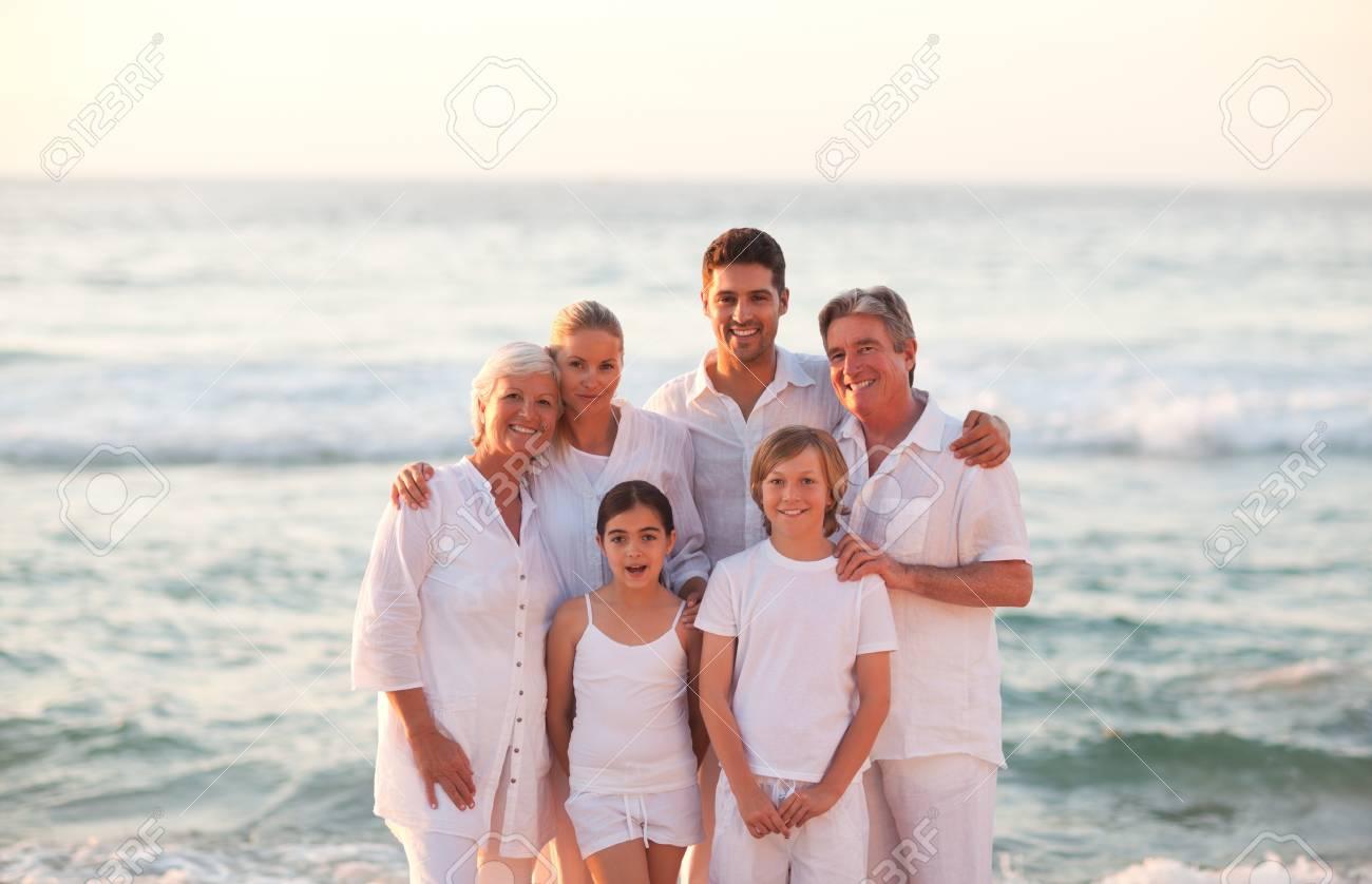 Portrait of a happy family Stock Photo - 10172145
