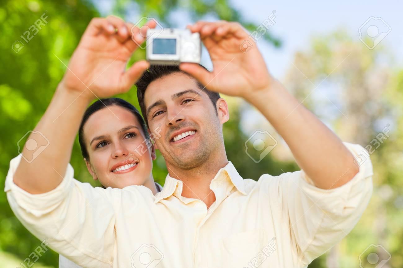 Par tomar una foto de themselve Foto de archivo - 10190639