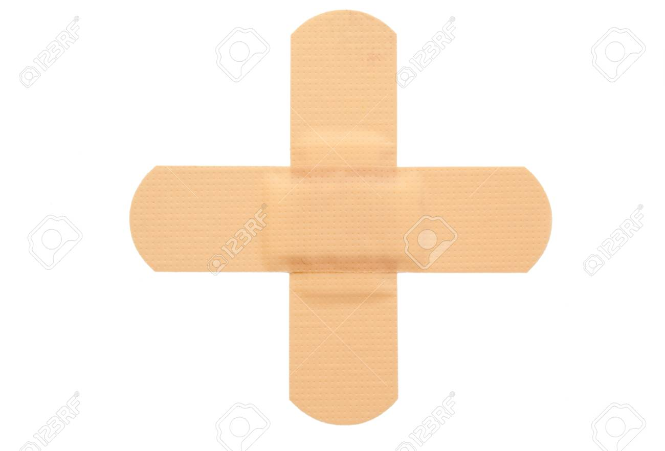 Top view of band-aid on a white background Stock Photo - 10193451