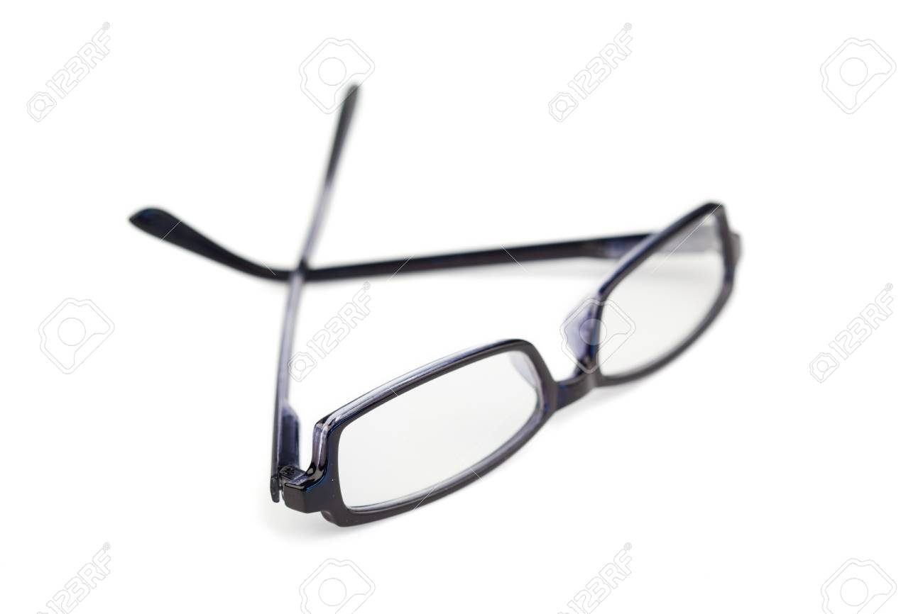 Pair of black glasses isolated on a white background Stock Photo - 10192475