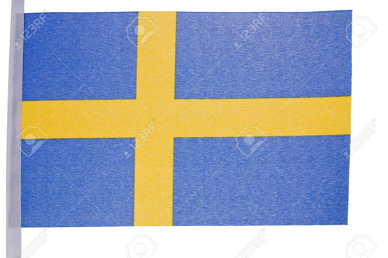 Swedish flag against a white background Stock Photo - 10207367