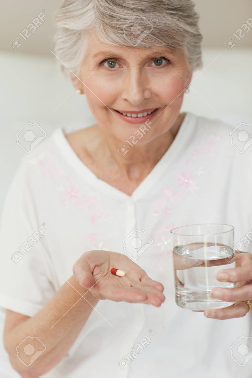 Senior woman looking at the camera Stock Photo - 10192856