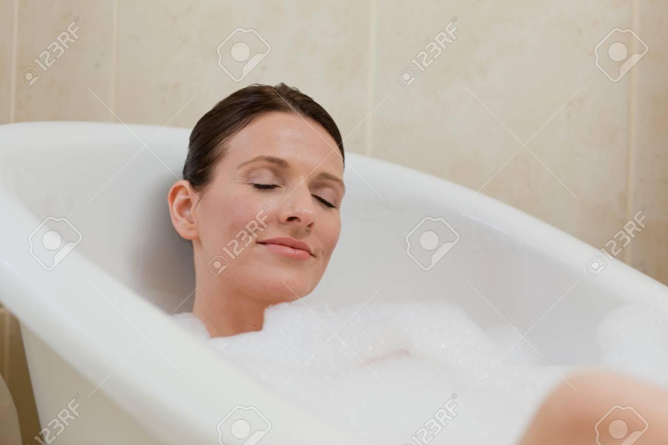 Beautiful woman taking a bath Stock Photo - 10192622
