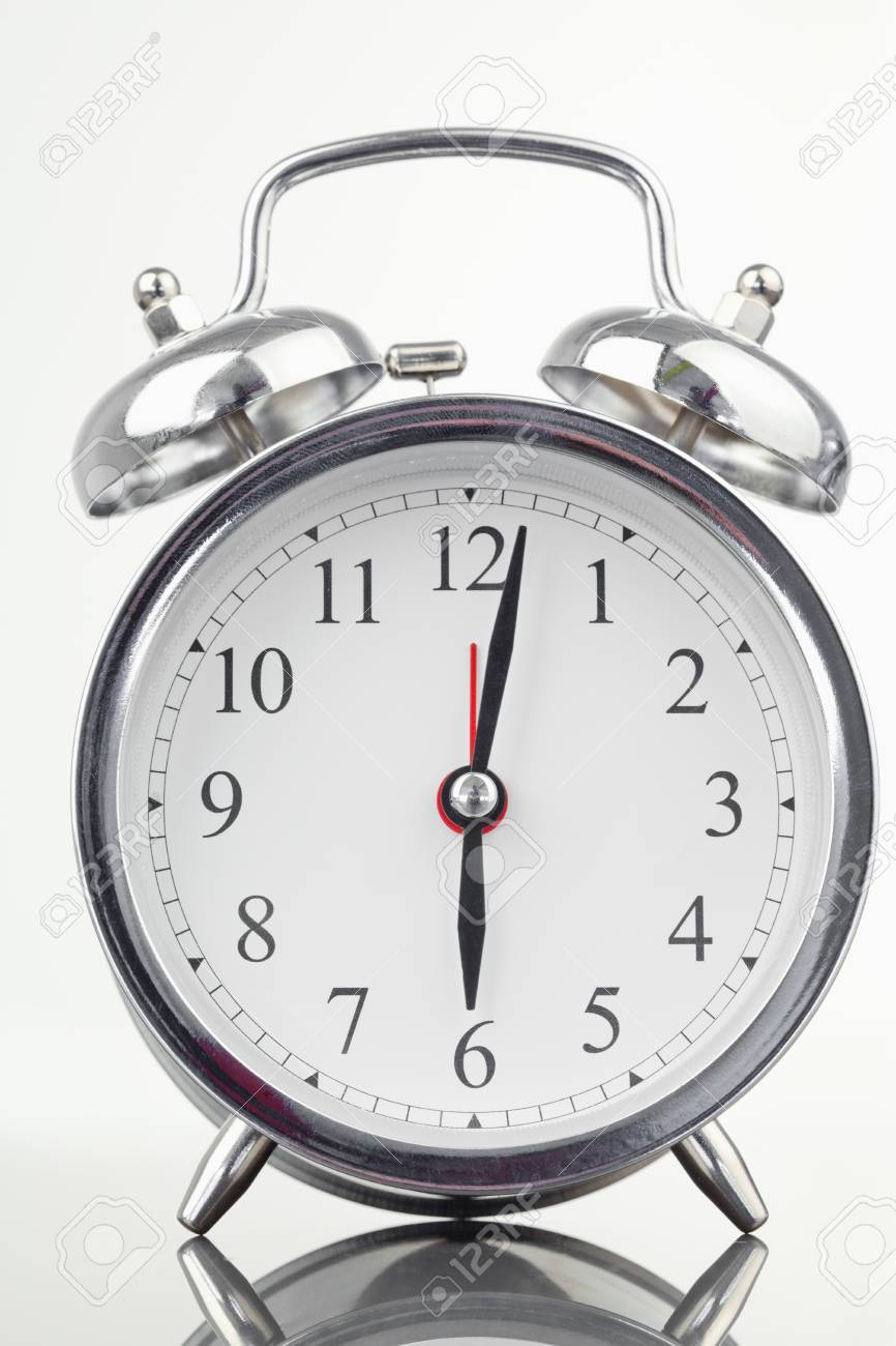 Alarm clock isolated against a white background Stock Photo - 10073178